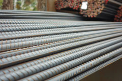 Deformed steel bars Royalty Free Stock Photo