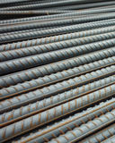 Deformed steel bars Stock Image