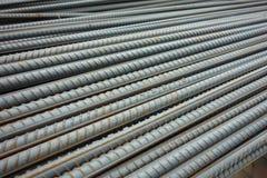 Deformerade stålstänger Arkivfoto