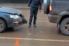 Deformering av bilen royaltyfria foton