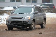 Deformering av bilen fotografering för bildbyråer