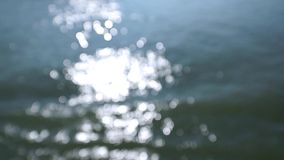 Defosued reflection on water stock footage