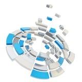 Defragmentation segmentado redondo da composição do círculo Foto de Stock Royalty Free