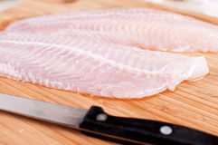 Defrosted fish fillets closeup Royalty Free Stock Image