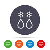 Defrosting sign icon. From ice to water symbol. Royalty Free Stock Photo