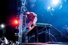 Deftones-Konzert lizenzfreie stockbilder