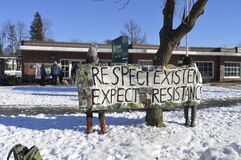 DefundDAPLamherst demonstration in Amherst
