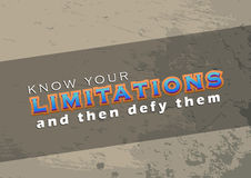 Defy your limitations Royalty Free Stock Photos