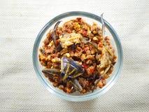 Deg för chili för fel för jätte- vatten thai mat fotografering för bildbyråer