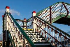 DEGANWY, CONWY/WALES - OCTOBER 6 : Deganwy railway bridge in Deg Royalty Free Stock Photos