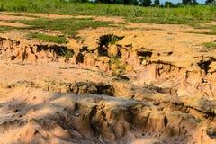 Degeneretion de tierra del suelo Fotografía de archivo