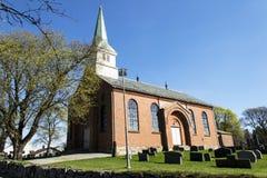 Degernes Kirke (chiesa di Degenren) Fotografia Stock Libera da Diritti