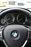 Deggendorf, Germany - 23. APRIL 2016: interior of a 2016 BMW x4 Series SUV during the luxury cars presentation in Deggendorf. Interior of a brand new 2016 BMW Stock Photos