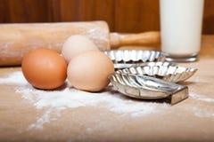 Degingredienser för stekheta julkakor Royaltyfri Fotografi