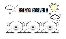 Degli amici illustrazione di vettore degli orsi polari per sempre royalty illustrazione gratis