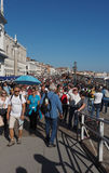 Degli Schiavoni de Riva à Venise Photos stock