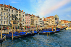 Degli Schiavoni de Riva de la costa en Venecia, Italia Foto de archivo