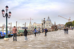 Degli Schiavoni de Riva embankment Veneza Fotografia de Stock