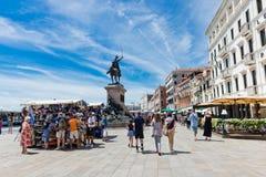 Degli Schiavoni de Riva na manhã em Veneza Fotografia de Stock