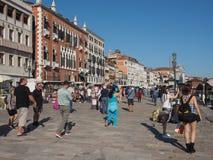 Degli Schiavoni Riva в Венеции Стоковое фото RF