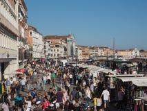 Degli Schiavoni Riva в Венеции Стоковые Фото