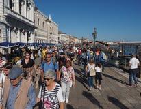 Degli Schiavoni Riva в Венеции Стоковая Фотография