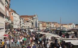 Degli Schiavoni Riva в Венеции Стоковые Изображения RF