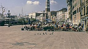 Degli Schiavoni Veneza de Riva video estoque