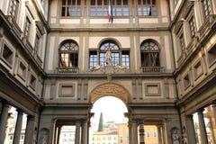 Degli Uffizi Piazzale стоковое изображение rf