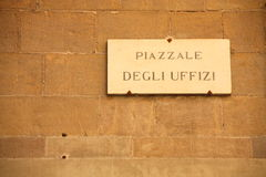Degli Uffizi Squere Royalty Free Stock Photography