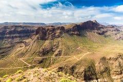 Degollada de las Yeguas Viewpoint - Gran Canaria Stock Images