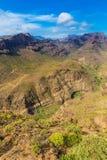 Degollada de las Yeguas Viewpoint - Gran Canaria Stock Photo