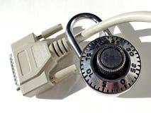 Degré de sécurité d'ordinateur photos libres de droits