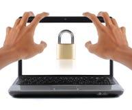 Degré de sécurité d'ordinateur portatif Photographie stock