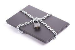 Degré de sécurité d'ordinateur portatif Photos libres de droits