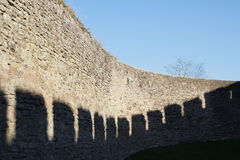 Degré de sécurité de mur de château Images libres de droits