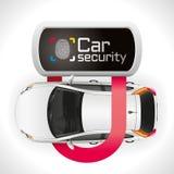 Degré de sécurité de serrure de voiture Photo libre de droits