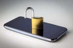 Degré de sécurité de téléphone portable Photos stock