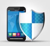 Degré de sécurité de téléphone portable, sécurité 2 Image libre de droits