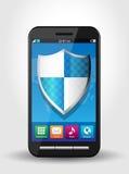 Degré de sécurité de téléphone portable, sécurité 1 Photos stock