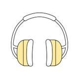 Degré de sécurité industriel d'écouteurs Images stock