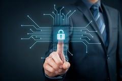 Degré de sécurité informatique de dispositifs images libres de droits
