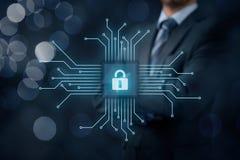 Degré de sécurité informatique de dispositifs photo libre de droits