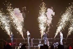 98 degrés de concert à Montréal Images stock