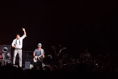 98 degrés de concert à Montréal Photographie stock libre de droits