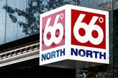 66 degrés de du nord Photo stock
