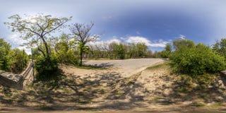 360 degrés de panorama du tepe de Dzhendem également connu sous le nom de jeunesse salut Photographie stock