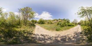 360 degrés de panorama du tepe de Dzhendem également connu sous le nom de jeunesse salut Photos stock