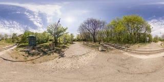 360 degrés de panorama du tepe de Dzhendem également connu sous le nom de jeunesse salut Image libre de droits