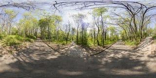 360 degrés de panorama du tepe de Dzhendem également connu sous le nom de jeunesse salut Image stock